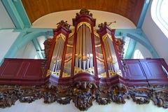 Órgano de tubo de la iglesia de Begijnhof imagen de archivo libre de regalías