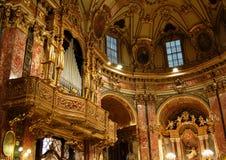 Órgano de tubos barroco Fotografía de archivo