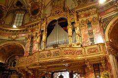 Órgano de tubos barroco Fotos de archivo libres de regalías