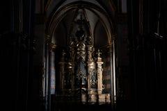 Órgano de una iglesia de Nápoles fotografía de archivo