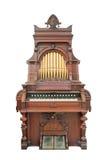 Órgano del vintage aislado con el camino de recortes. Fotografía de archivo