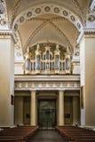 Órgano en la catedral Imagen de archivo libre de regalías