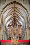 Órgano en la catedral de Gloucester Imagen de archivo