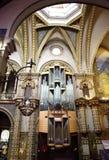 Órgano en la iglesia de Montserrat Imagenes de archivo