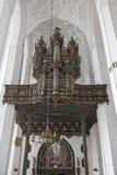 Órgano en St Mary, Gdansk foto de archivo libre de regalías