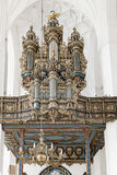 Órgano en St Mary, Gdansk foto de archivo