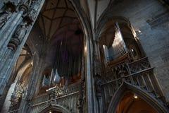 Órgano en Stephansdom, la catedral de St Stephen en Viena Austria Imágenes de archivo libres de regalías