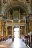 Órgano gigante en iglesia vieja Imagen de archivo libre de regalías