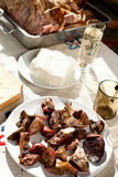 Órganos cocinados de la carne Fotografía de archivo libre de regalías