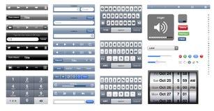 Ósmio do gráfico de Iphone Fotografia de Stock
