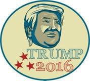 Óvalo de Donald Trump Presidente 2016 Foto de archivo libre de regalías