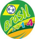 Óvalo 2014 de la bola del fútbol del fútbol del Brasil