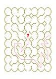 Óvalo o juego formado huevo del laberinto ilustración del vector