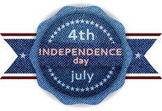 ô Bandeira do Dia da Independência de julho ilustração do vetor
