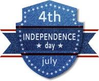 ô Bandeira do Dia da Independência de julho ilustração stock