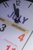 ô da contagem regressiva de julho Foto de Stock Royalty Free