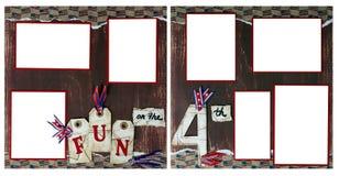 ô da página do Scrapbook de julho Digital Fotografia de Stock Royalty Free