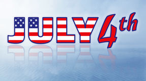 ô julho - Dia da Independência Fotografia de Stock Royalty Free