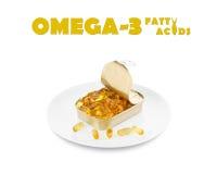 Ômega 3 ácidos gordos fotos de stock