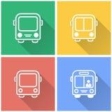 Ônibus - ícone do vetor Foto de Stock