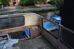Ônibus abandonado imagem de stock