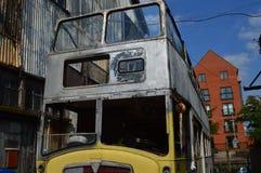 Ônibus abandonado Foto de Stock Royalty Free