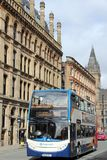 Ônibus BRITÂNICO da cidade de Manchester Fotografia de Stock Royalty Free
