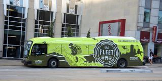 Ônibus da autoridade do trânsito de Chicago fotografia de stock royalty free