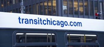 Ônibus da autoridade do trânsito de Chicago foto de stock