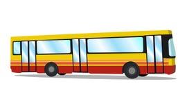 Ônibus da cidade Treinador do turista Ilustração do vetor Fotografia de Stock Royalty Free