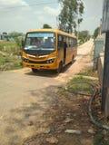 Ônibus da faculdade Fotografia de Stock Royalty Free