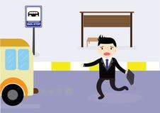 Ônibus de espera Fotos de Stock