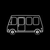 Ônibus de excursão da carrinha da família Foto de Stock