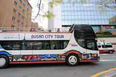 Ônibus de excursão da cidade de Busan Foto de Stock Royalty Free