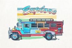 Ônibus de Philippino Imagens de Stock