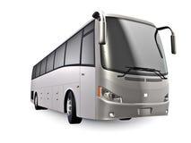 Ônibus de prata Fotografia de Stock