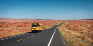Ônibus de Shool na estrada 89 Fotografia de Stock