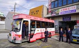 Ônibus de turista a Kumano Kodo em Japão fotografia de stock