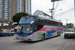Ônibus de Volvo da empresa do governo do transporte Rota de ônibus de 15 medidores Imagem de Stock
