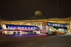Ônibus de Volvo da empresa do governo do transporte Rota de ônibus de 15 medidores Fotos de Stock Royalty Free