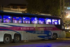 Ônibus de Volvo da empresa do governo do transporte Rota de ônibus de 15 medidores Imagem de Stock Royalty Free