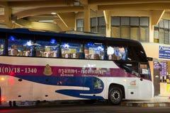 Ônibus de Volvo da empresa do governo do transporte Rota de ônibus de 15 medidores Imagens de Stock Royalty Free