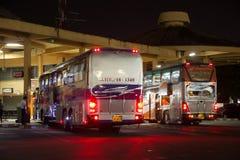 Ônibus de Volvo da empresa do governo do transporte Rota de ônibus de 15 medidores Fotografia de Stock