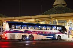 Ônibus de Volvo da empresa do governo do transporte Rota de ônibus de 15 medidores Fotos de Stock