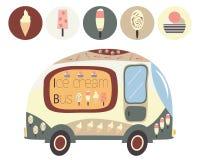Ônibus do gelado Fotografia de Stock Royalty Free