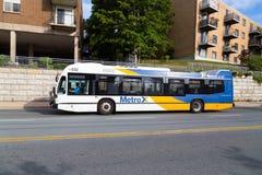Ônibus do público de Halifax foto de stock