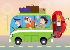 Ônibus do resto do verão Imagens de Stock Royalty Free