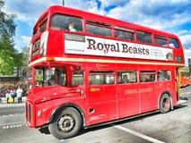 Ônibus do vermelho de Londres Foto de Stock