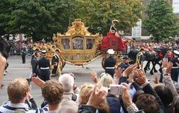Ônibus dourado, Holland Imagem de Stock Royalty Free