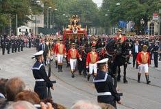 Ônibus dourado, Holland Imagens de Stock Royalty Free
